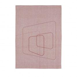 Růžová kuchyňská utěrka ZONE Squares