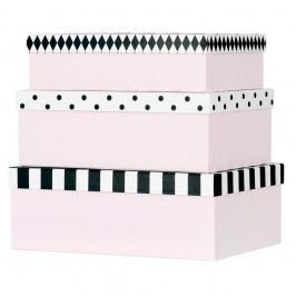 Sada 3 papírových úložných boxů Miss Étoile Open & Closed Eyes