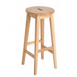 Přírodní barová stolička z dubového dřeva Rowico Frigg