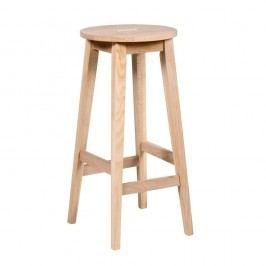 Matně lakovaná barová stolička z dubového dřeva Rowico Frigg