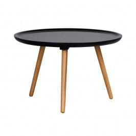 Černý konferenční stolek Folke Dellingr, ⌀ 55cm