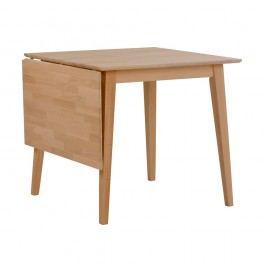 Přírodní sklápěcí dubový jídelní stůl Rowico Mimi, délka 80-125cm