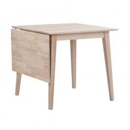 Matně lakovaný sklápěcí dubový jídelní stůl Folke Mimi, délka 80-125cm
