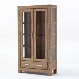 Světle hnědá dvoudveřová vitrína  z akáciového dřeva SOB Sydney