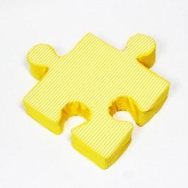 Žlutý polštářek Puzzle Stripes