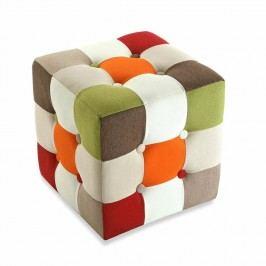 Bavlněný puf na sezení Versa Red Cube