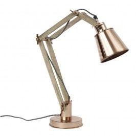 Měděná stolní nastavitelná lampa Nordal Retro