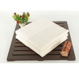 Sada 2 krémových ručníků Patricia, 50x90 cm