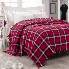 Lehký bavlněný přehoz přes postel Iskoc Red, 200 x 240cm