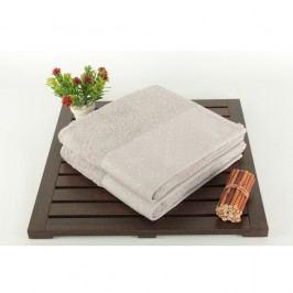 Sada 2 světle šedých bavlněných ručníků Patricia, 50x90cm