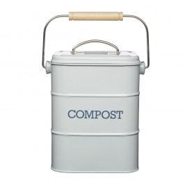 Šedý domácí kompostér Kitchen Craft Living Nostalgia,3 l
