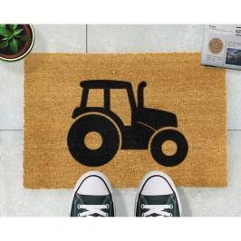 Rohožka z přírodního kokosového vlákna Artsy Doormats Tractor,40x60cm