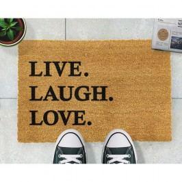 Rohožka z přírodního kokosového vlákna Artsy Doormats Live Laugh Love,40x60cm