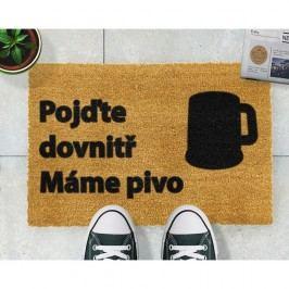 Rohožka z přírodního kokosového vlákna Artsy Doormats Pivo,40x60cm
