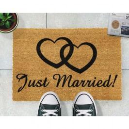 Rohožka z přírodního kokosového vlákna Artsy Doormats Just Married,40x60cm