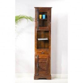 Vysoká skříňka z mangového dřeva SOB Yao