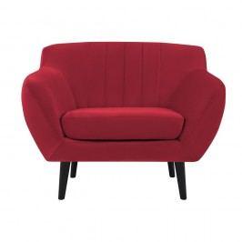 Červené křeslo Mazzini Sofas Toscane, černénohy