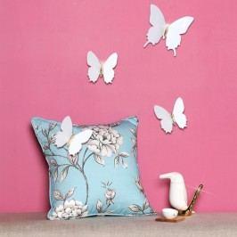 Sada 12 bílých 3D samolepek Ambiance Diamond Butterflies