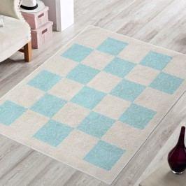 Modrý odolný koberec Vitaus Patchwork, 80x150cm