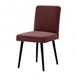 Cihlově červená židle s černými nohami z bukového dřeva Ted Lapidus Maison Fragrance