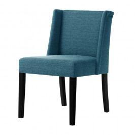 Tyrkysová židle s černými nohami z bukového dřeva Ted Lapidus Maison Zeste
