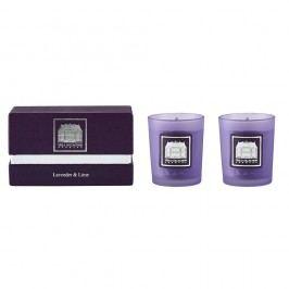 Vonná svíčka levandule a limetky Villa Collection, sada 2ks