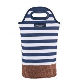 Tmavě modrá pruhovaná taška na dvě lahve Navigate, 2l