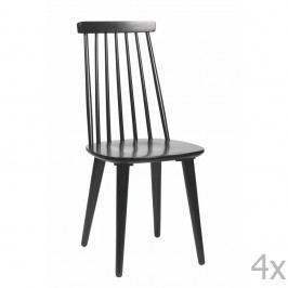 Černá jídelní židle ze dřeva kaučukovníku Rowico Lotta