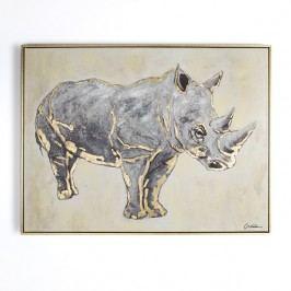 Ručně malovaný obraz Graham & Brown Rhino,80x60cm