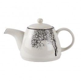 Konvice na čaj z kameniny KJ Collection Tree, 1,4l