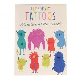 Sada 2 listů dočasných tetování Rex London Monsters Of The World