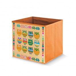 Oranžová úložná krabice Domopak Owls