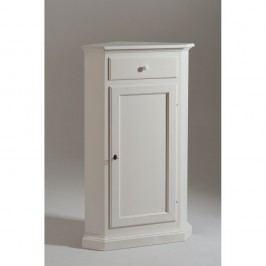 Bílá rohová dřevěná skříňka Castagnetti Cabi