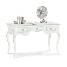 Bílý dřevěný pracovní stůl se 3 zásuvkami Castagnetti Mare