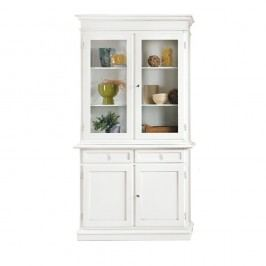 Bílá dřevěná vitrína Castagnetti Spiagga