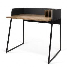 Černý pracovní stůl TemaHome Volga Walnut