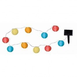 Světelný LED řetěz vhodný do exteriéru Best Season Crazy Lampions, 10 světýlek