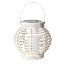 Bílá solární LED lucerna vhodná do exteriéru Best Season Rustic