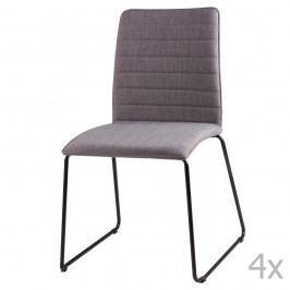 Sada 4 světle šedých  jídelních židlí sømcasa Vera