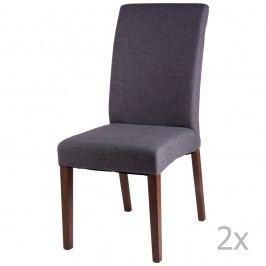 Sada 2 tmavě šedých  jídelních židlí sømcasa Elsa