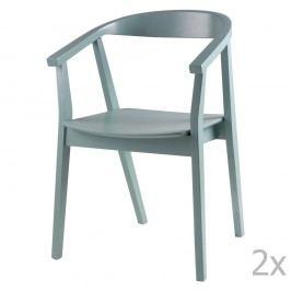 Sada 2 mentolových jídelních židlí sømcasa Donna