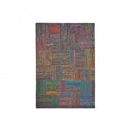 Barevný hedvábný koberec s černými vlákny The Rug Republic Silk Lane, 230x160cm
