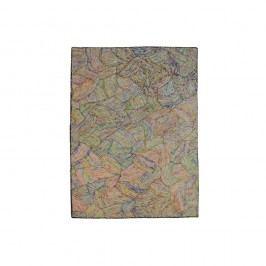 Barevný hedvábný koberec s bílými vlákny The Rug Republic Spice Route, 230x160cm