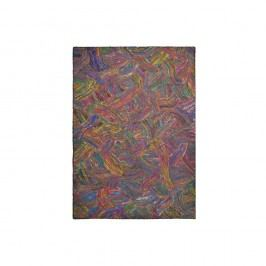 Barevný hedvábný koberec s černými vlákny The Rug Republic Spice Route, 230x160cm