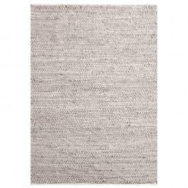 Béžový jutový koberec s hovězí kůží The Rug Republic Stables, 230x160cm