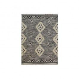 Krémovo-černý vlněný koberec The Rug Republic Avia, 230x160cm