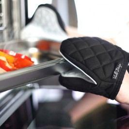 Černobílá bavlněná chňapka se silikonem Vialli Design
