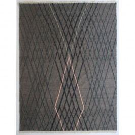 Šedý ručně tkaný vlněný koberec Linie Design Wimpole, 170x240cm
