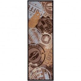 Hnědý kuchyňský běhoun Zala Living CoffeeStamp, 50x150cm
