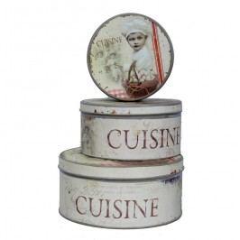 Sada 3 kulatých dóz Antic Line Cuisine